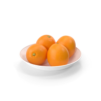 Plate with Oranges PNG & PSD Images