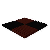 Acoustic Foam Section Micropor Pyramidal PNG & PSD Images