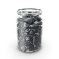 Jar With Mixed Fancy Wrapped Candy PNG & PSD Images