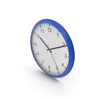 Wall Clock Blue PNG & PSD Images