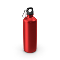 Water Bottle Red Metal PNG & PSD Images