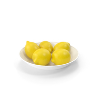Plate with Lemons PNG & PSD Images
