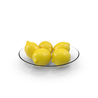 Plate Glass with Lemons PNG & PSD Images