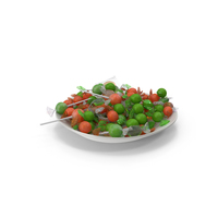 Plate with Mixed Wrapped Hard Candy PNG & PSD Images