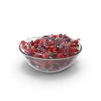 Bowl with Mixed Wrapped Hard Candy PNG & PSD Images