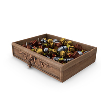 Drawer with Mixed Fancy Wrapped Candy PNG & PSD Images