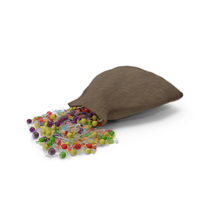 Sack with Mixed Wrapped Hard Candy PNG & PSD Images