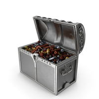Chest with Mixed Fancy Wrapped Candy PNG & PSD Images