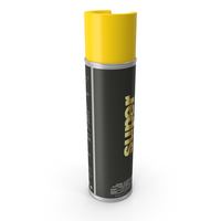 Aerosol Yellow Traffic Striping Paint PNG & PSD Images