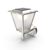 Classical Design Solar Outdoor Wall Lamp Switched On PNG & PSD Images