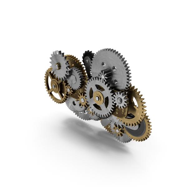 Clockwork Gear Mechanism Mixed PNG & PSD Images