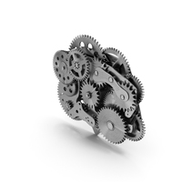 Cog Gears Mechanism Silver PNG & PSD Images