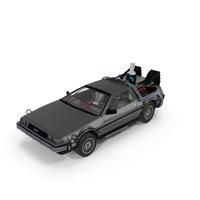 DeLorean DMC-12 Time Machine PNG & PSD Images