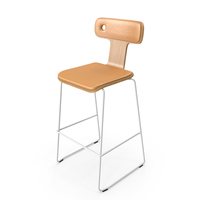 Moore Bar Chair Leather PNG & PSD Images