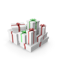 White Gift Boxes PNG & PSD Images