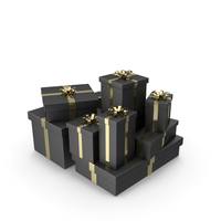 Black Gift Boxes PNG & PSD Images