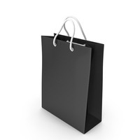 Shopping Bag black PNG & PSD Images