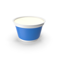 Sour Cream Cup Opened PNG & PSD Images