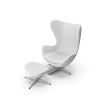 Egg Lounge Chair White PNG & PSD Images