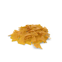 Pile Of Corn Tortilla Nacho Chips PNG & PSD Images