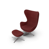 Egg Lounge Chair Suit Red PNG & PSD Images