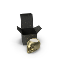 Gold Skull Head Candle with Box PNG & PSD Images