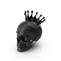 Black Skull with Crown PNG & PSD Images