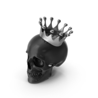 Black Skull With Silver Crown PNG & PSD Images