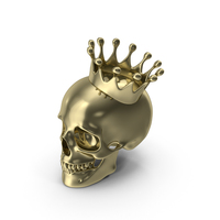 Gold Skull With Crown PNG & PSD Images