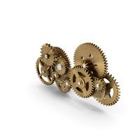Gear Mechanism Bronze PNG & PSD Images