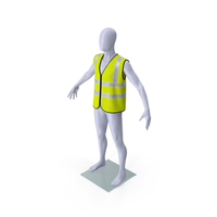 Mannequin with Yellow Hi Vis Safety Vest PNG & PSD Images