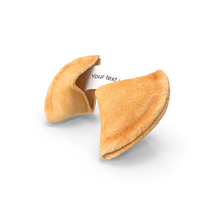 Open Fortune Cookie with Message PNG & PSD Images