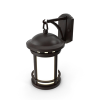 Vintage Decorative Street Wall Lantern Switched On PNG & PSD Images