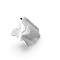 White Ghost Sheet Flying PNG & PSD Images