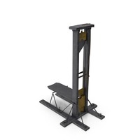 Antique 19th Century French Guillotine PNG & PSD Images