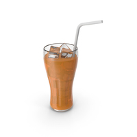 Orange Glass Juice With Tube PNG & PSD Images