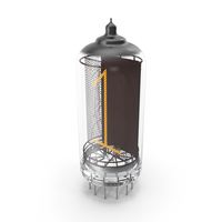 Vacuum Tube Alphabet Number 1 PNG & PSD Images