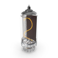 Vacuum Tube Alphabet Number 2 PNG & PSD Images