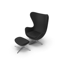 Egg Lounge Chair Patterned PNG & PSD Images