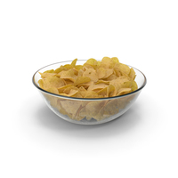 Bowl with Potato Chips PNG & PSD Images