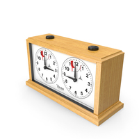 INSA Wooden Mechanical Chess Clock PNG & PSD Images