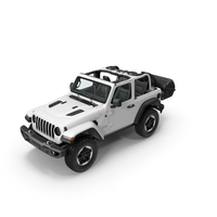 Jeep Wrangler with Thule Transporter Combi PNG & PSD Images
