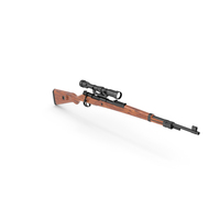 Mauser Kar98k Bolt Action Rifle with Scope PNG & PSD Images