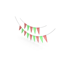 Red and Green Merry Christmas Garland PNG & PSD Images