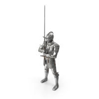 Medieval Knight Plate Armor holding Zweihander PNG & PSD Images
