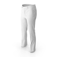 Men's Trousers White PNG & PSD Images