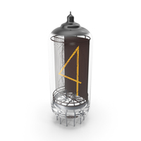 Vacuum Tube Alphabet Number 4 PNG & PSD Images