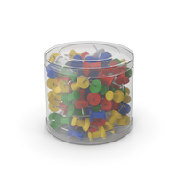 Push Pins In Plastic Box PNG & PSD Images
