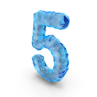 Ice Alphabet Number 5 PNG & PSD Images