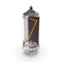 Vacuum Tube Alphabet Number 7 PNG & PSD Images